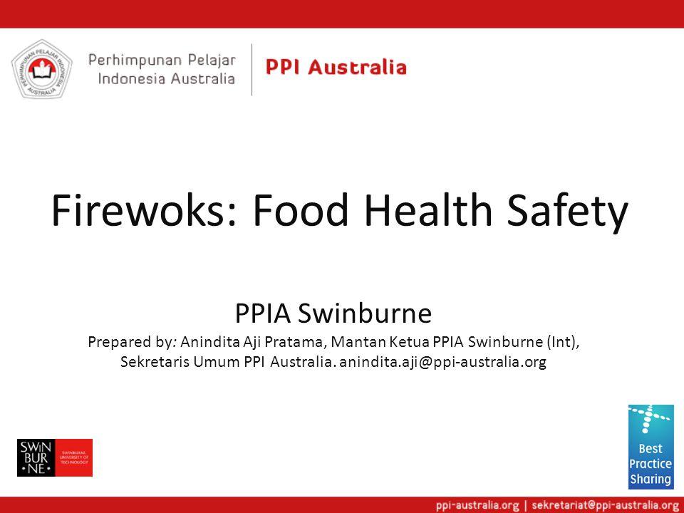 Firewoks: Food Health Safety