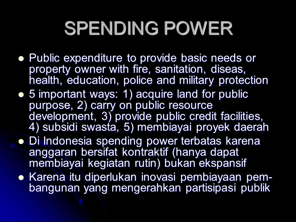 SPENDING POWER