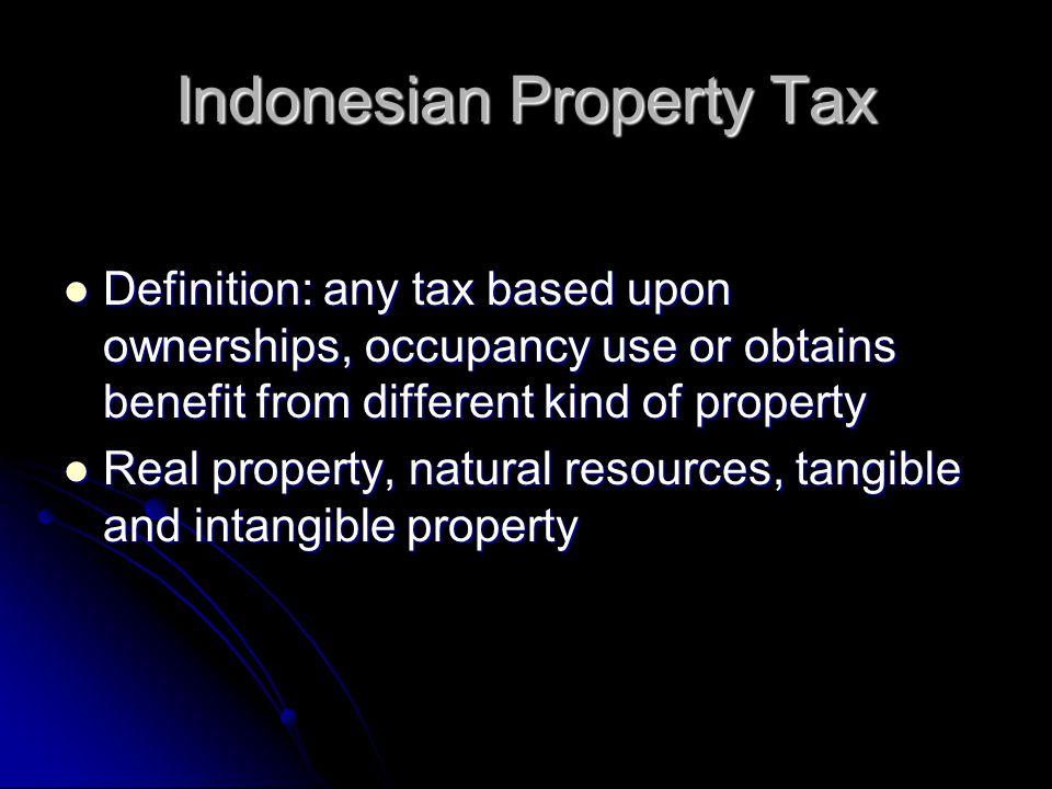 Indonesian Property Tax