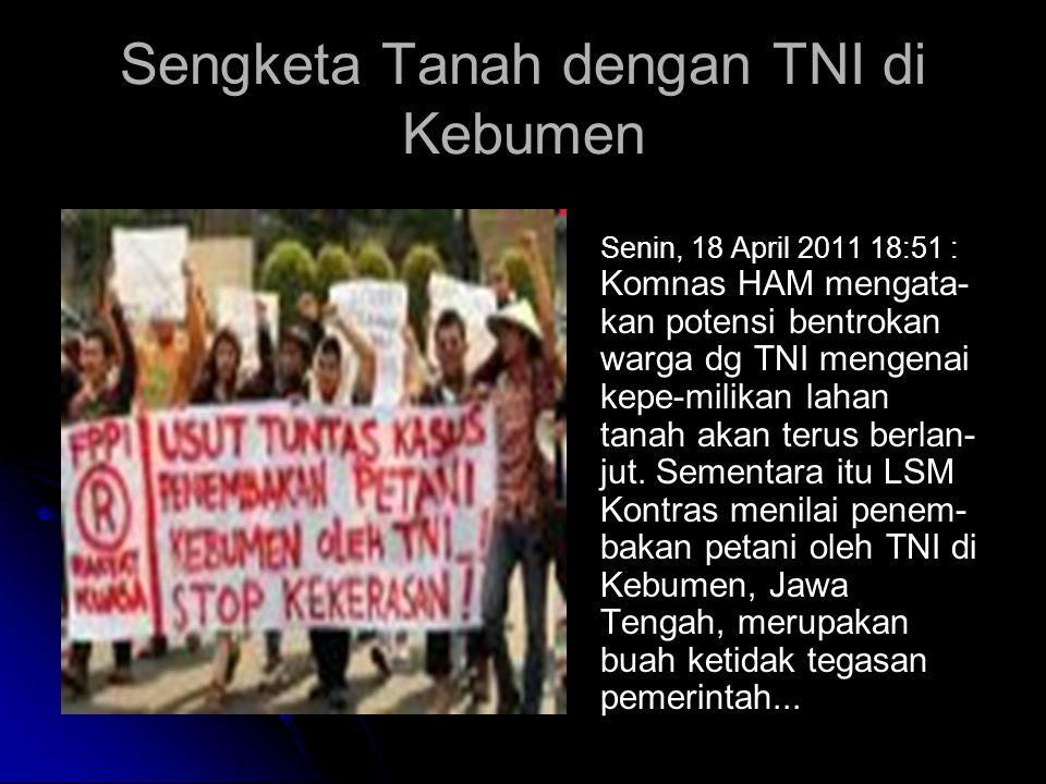 Sengketa Tanah dengan TNI di Kebumen
