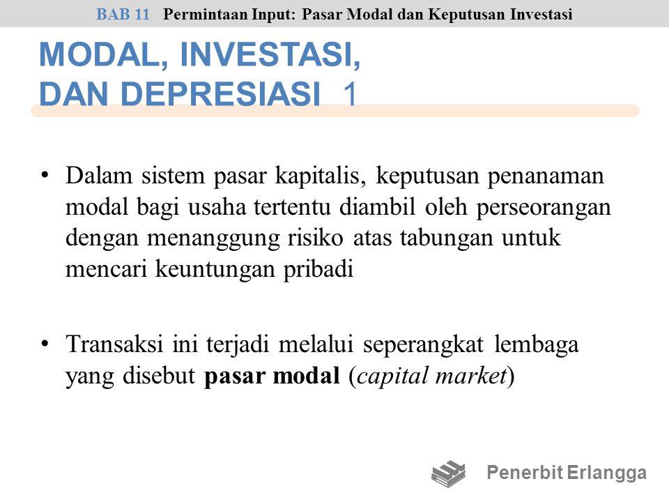 MODAL, INVESTASI, DAN DEPRESIASI 1