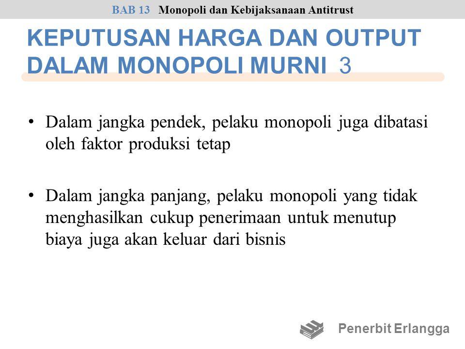 KEPUTUSAN HARGA DAN OUTPUT DALAM MONOPOLI MURNI 3