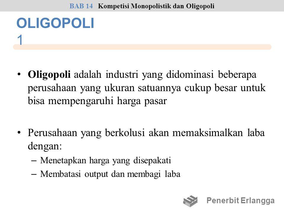 BAB 14 Kompetisi Monopolistik dan Oligopoli