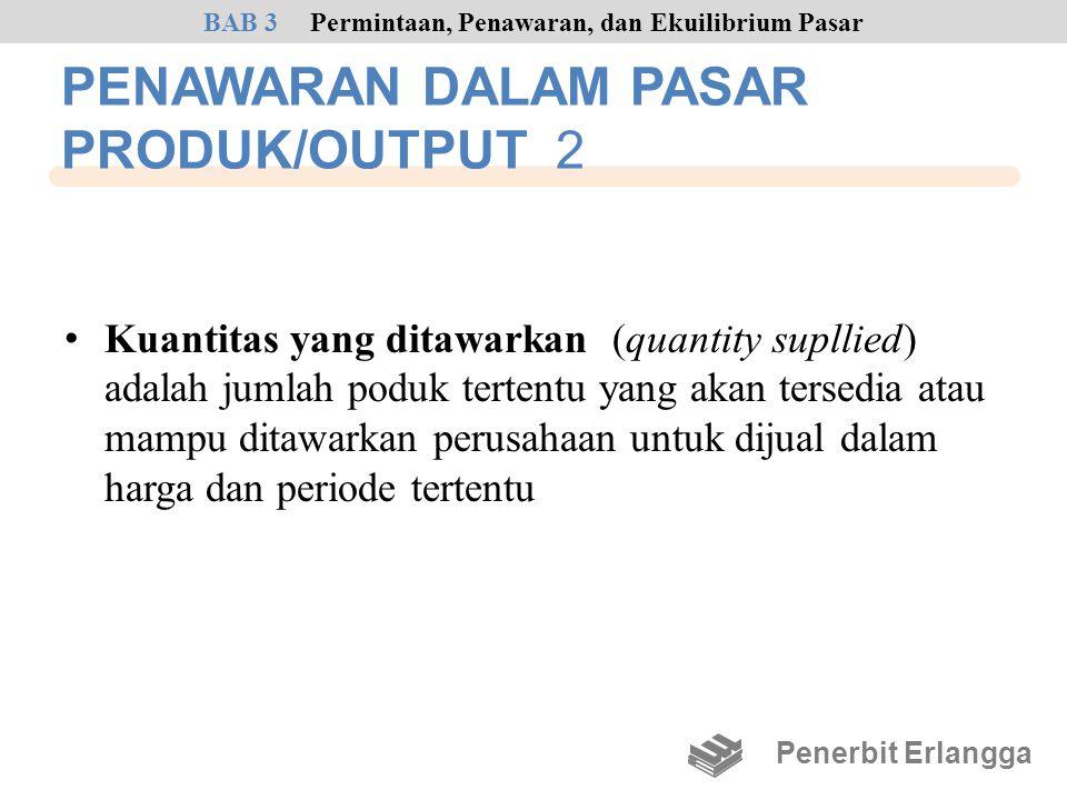 PENAWARAN DALAM PASAR PRODUK/OUTPUT 2