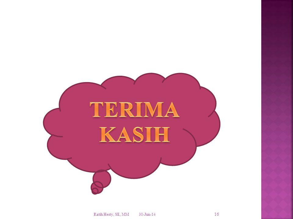 TERIMA KASIH Ratih Hesty, SE, MM 3-Apr-17