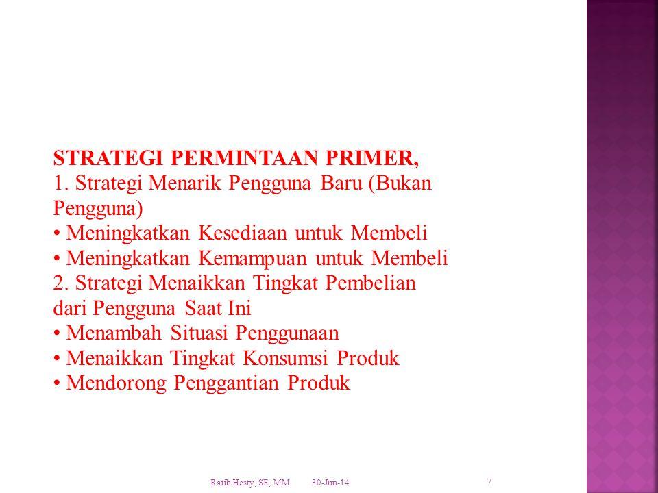 STRATEGI PERMINTAAN PRIMER, 1. Strategi Menarik Pengguna Baru (Bukan
