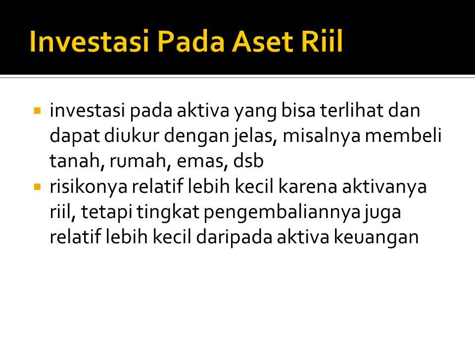 Investasi Pada Aset Riil