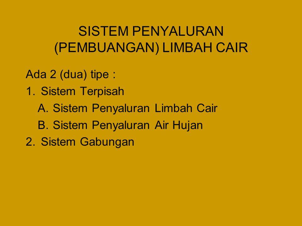 SISTEM PENYALURAN (PEMBUANGAN) LIMBAH CAIR
