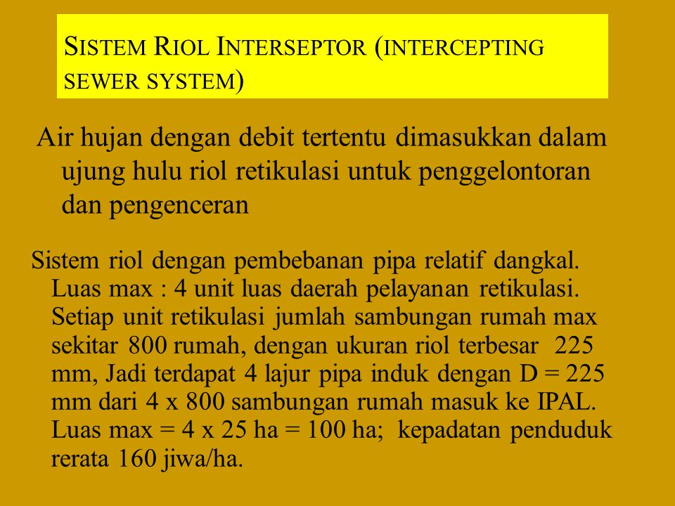 Sistem Riol Interseptor (intercepting sewer system)
