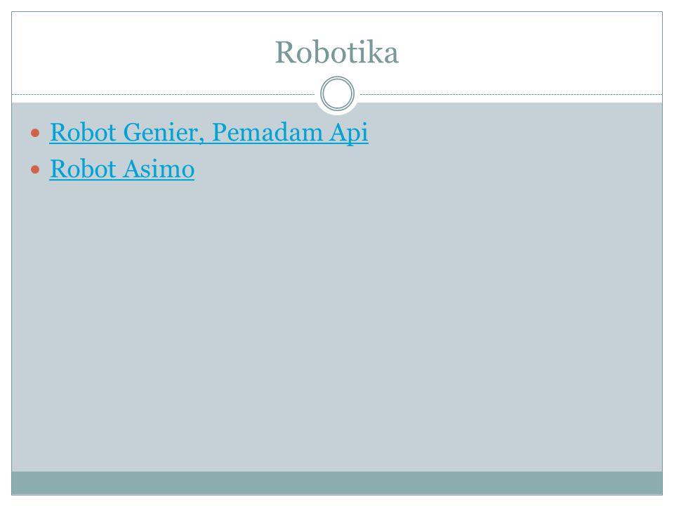 Robotika Robot Genier, Pemadam Api Robot Asimo