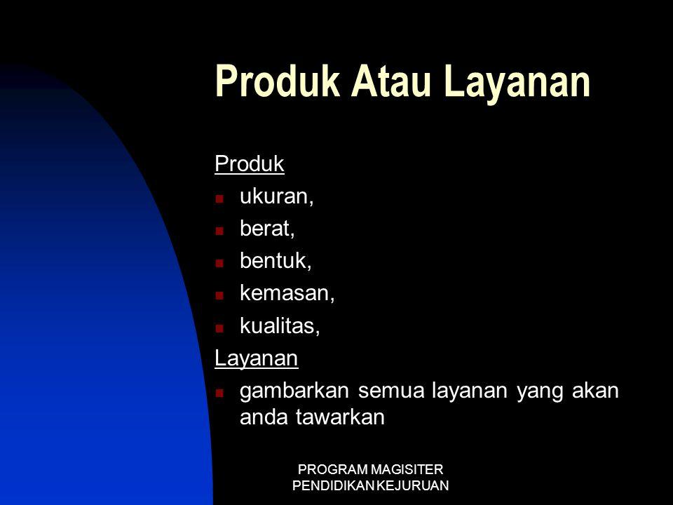 PROGRAM MAGISITER PENDIDIKAN KEJURUAN