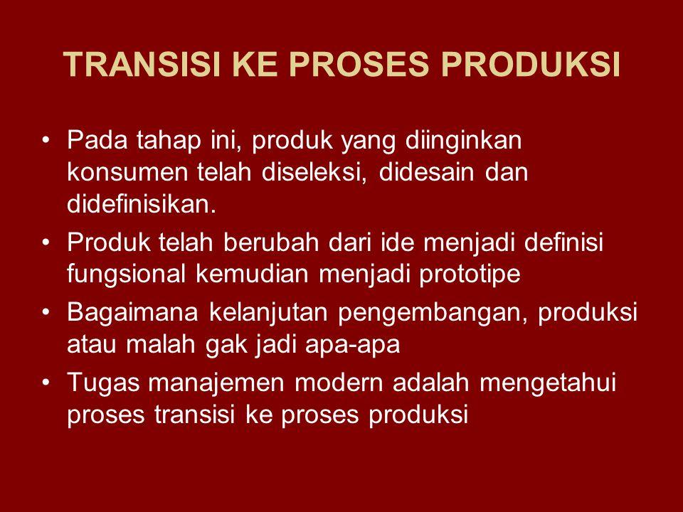TRANSISI KE PROSES PRODUKSI