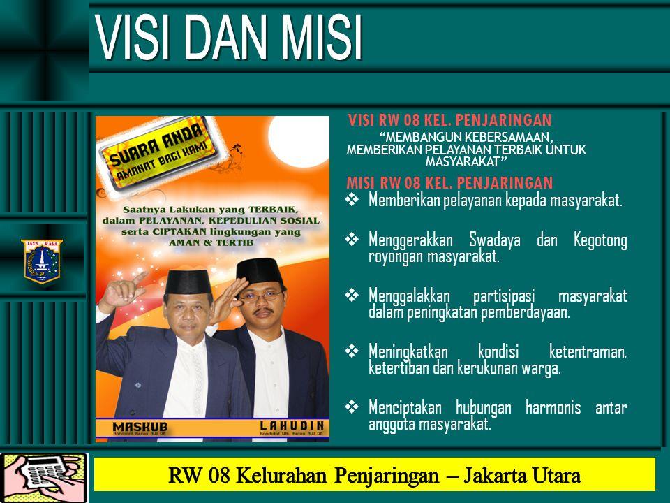 VISI DAN MISI RW 08 Kelurahan Penjaringan – Jakarta Utara