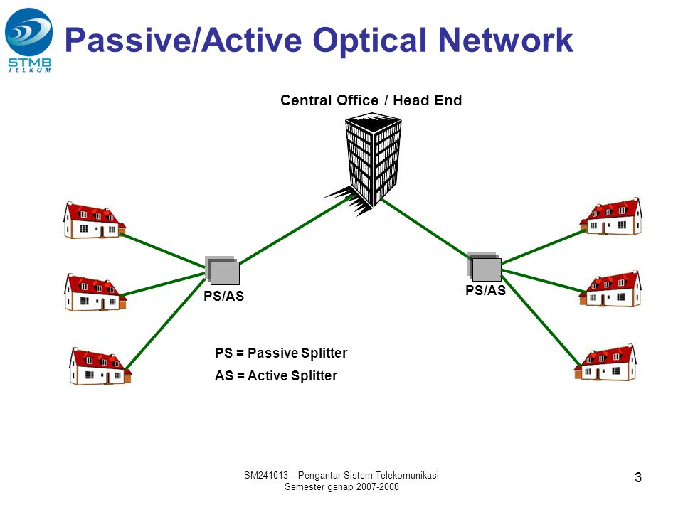 Passive/Active Optical Network