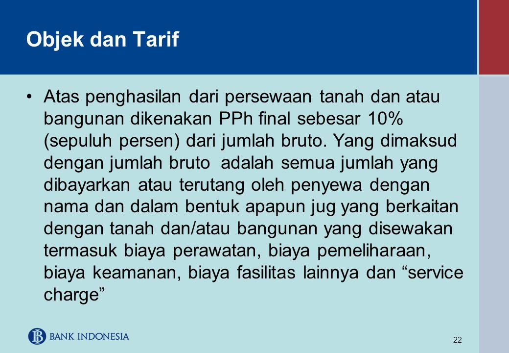 Objek dan Tarif