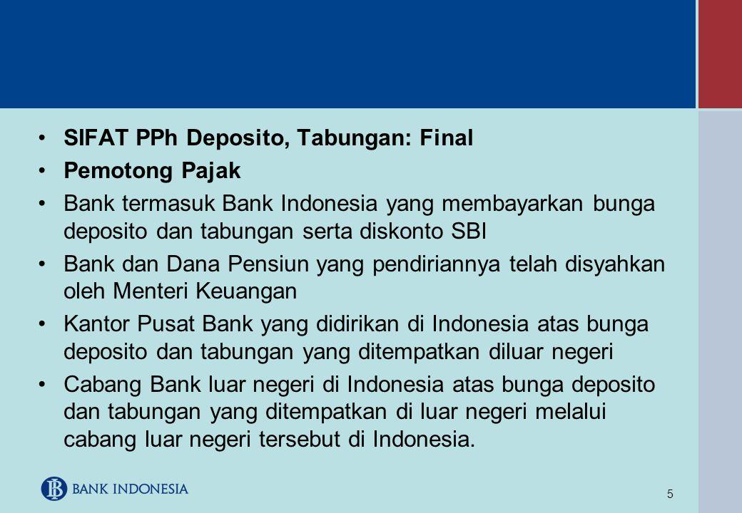 SIFAT PPh Deposito, Tabungan: Final