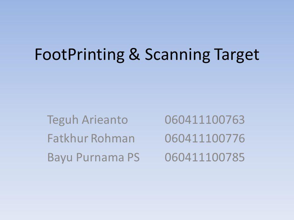 FootPrinting & Scanning Target