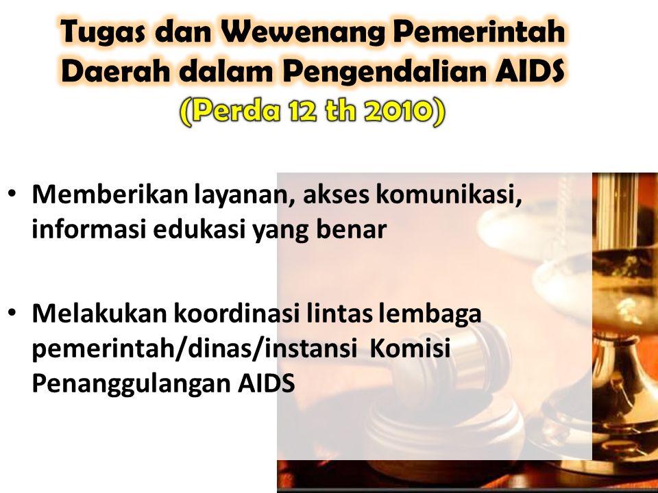 Tugas dan Wewenang Pemerintah Daerah dalam Pengendalian AIDS (Perda 12 th 2010)