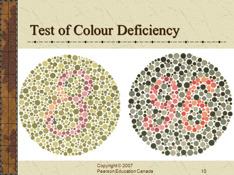 Test of Colour Deficiency