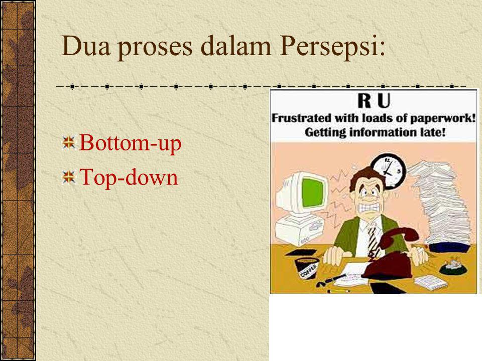 Dua proses dalam Persepsi: