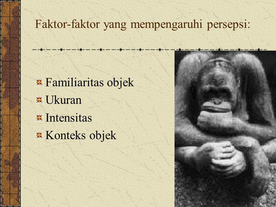 Faktor-faktor yang mempengaruhi persepsi: