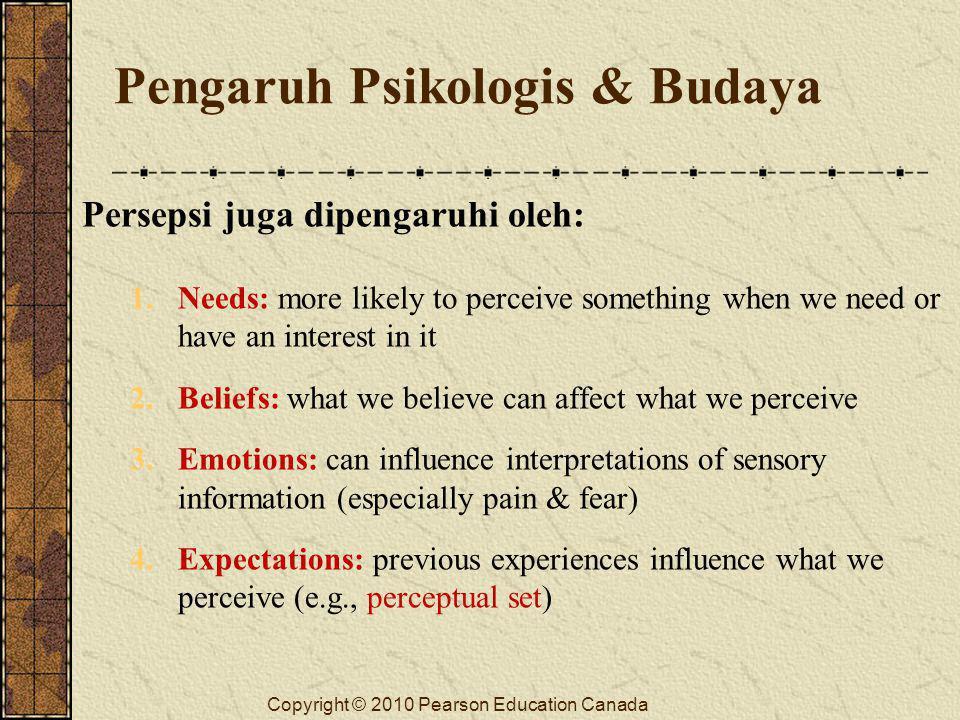 Pengaruh Psikologis & Budaya