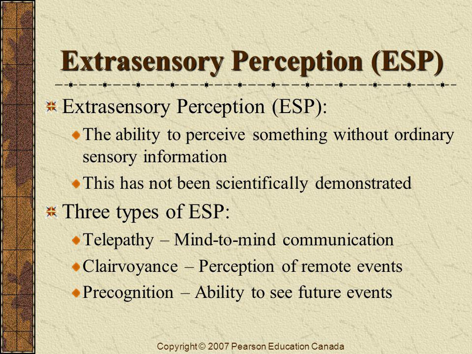 Extrasensory Perception (ESP)