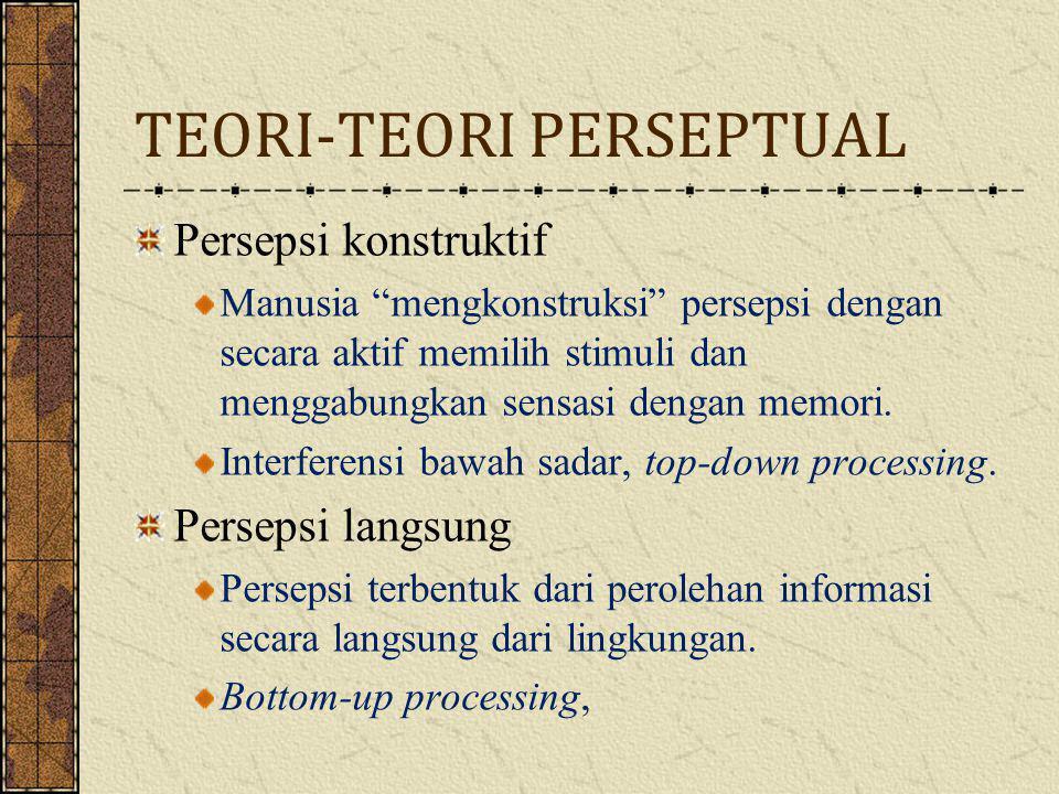 TEORI-TEORI PERSEPTUAL