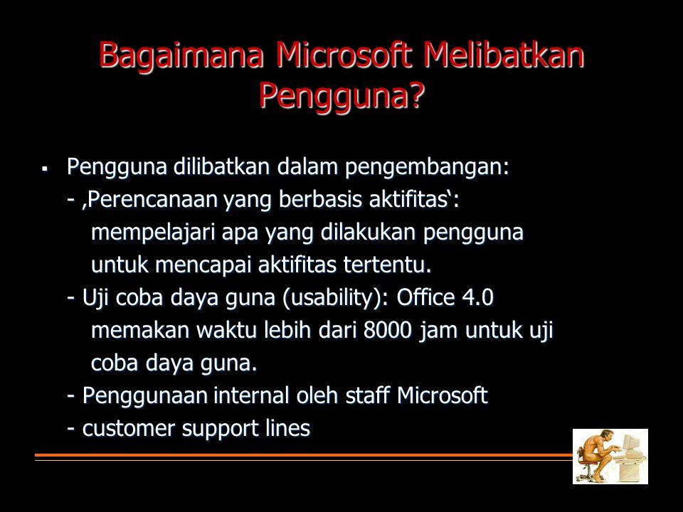 Bagaimana Microsoft Melibatkan Pengguna