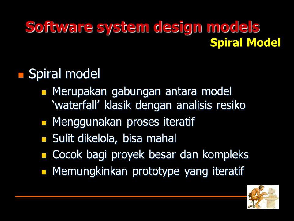 Software system design models