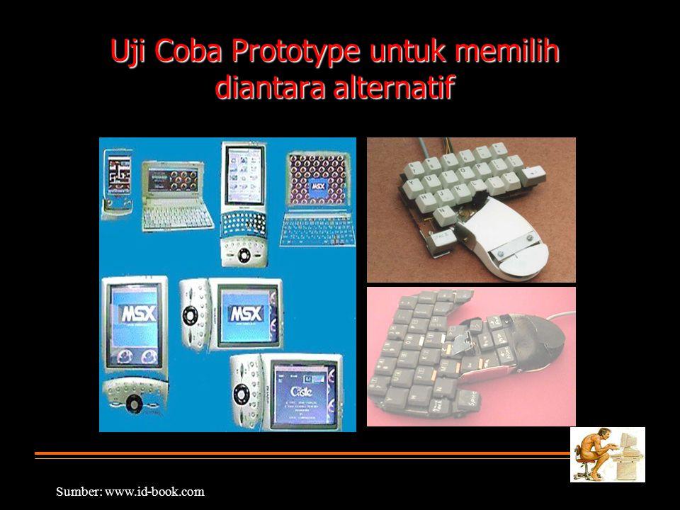 Uji Coba Prototype untuk memilih diantara alternatif