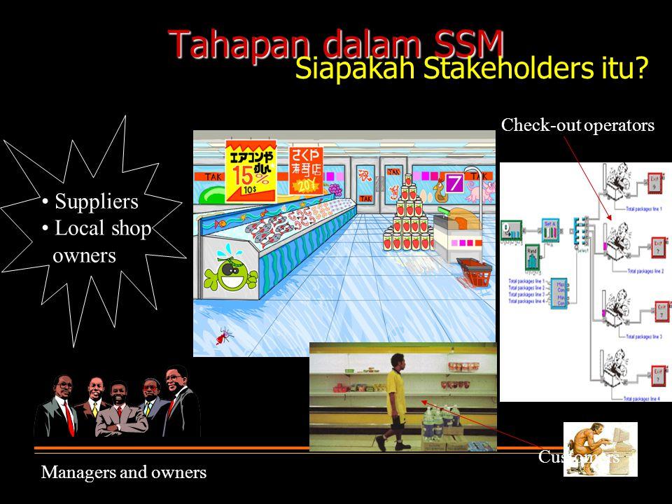 Tahapan dalam SSM Siapakah Stakeholders itu • Suppliers