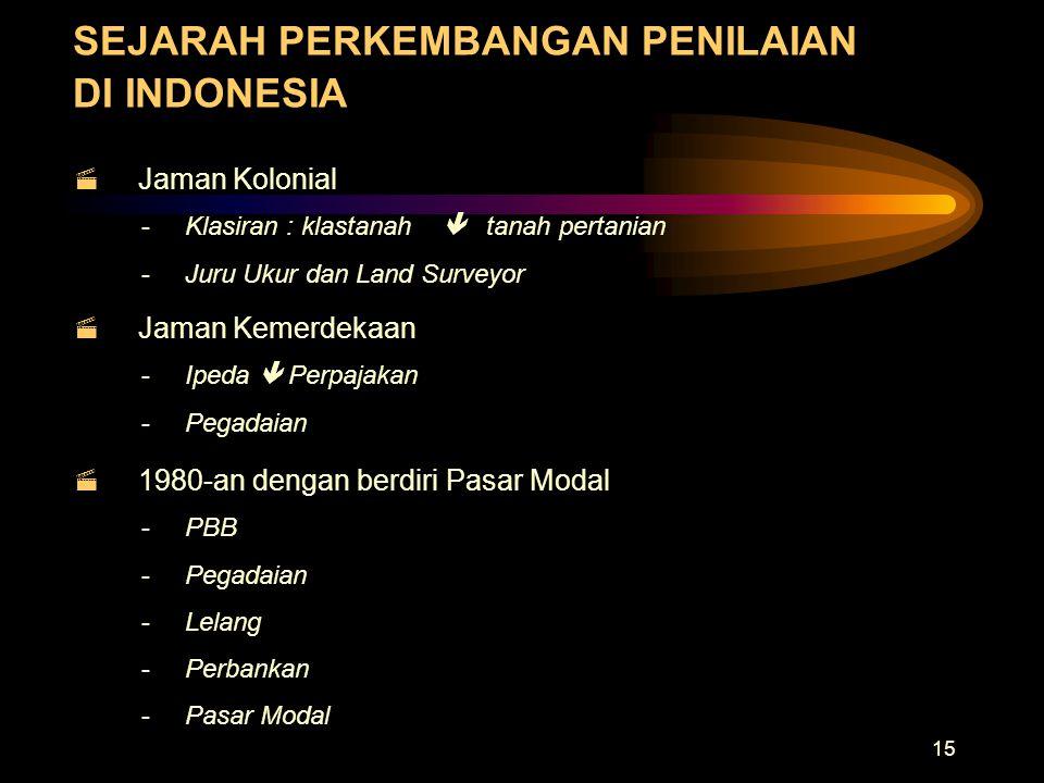 SEJARAH PERKEMBANGAN PENILAIAN DI INDONESIA