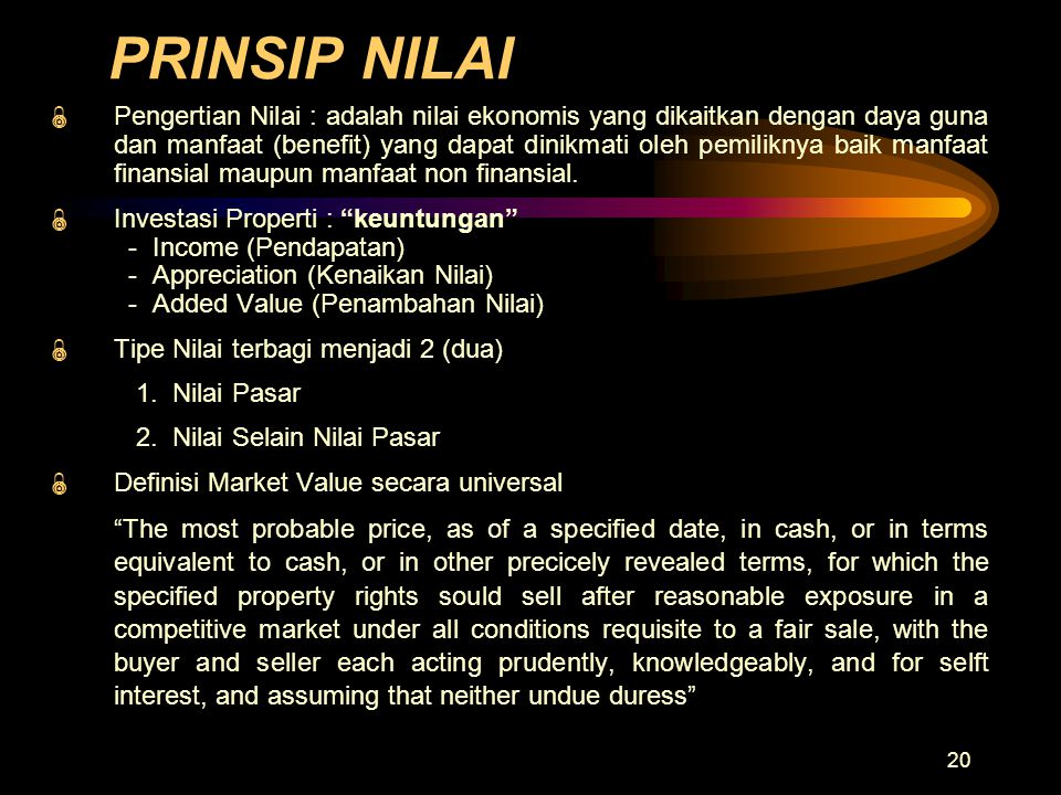 PRINSIP NILAI