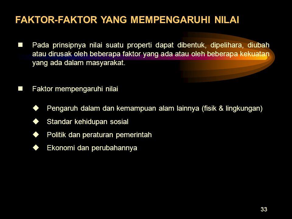 FAKTOR-FAKTOR YANG MEMPENGARUHI NILAI