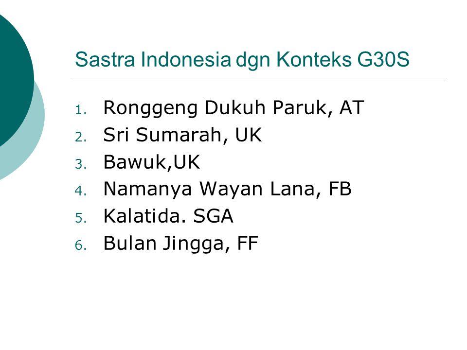 Sastra Indonesia dgn Konteks G30S