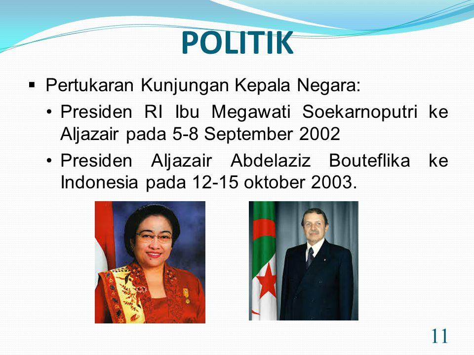 POLITIK Pertukaran Kunjungan Kepala Negara: