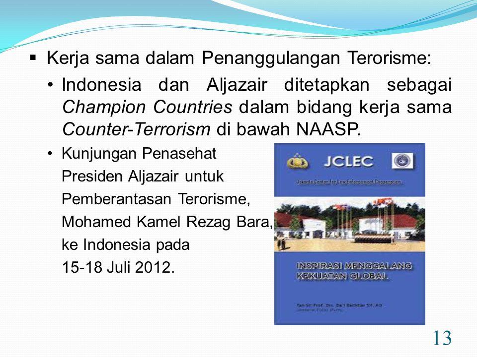 Kerja sama dalam Penanggulangan Terorisme: