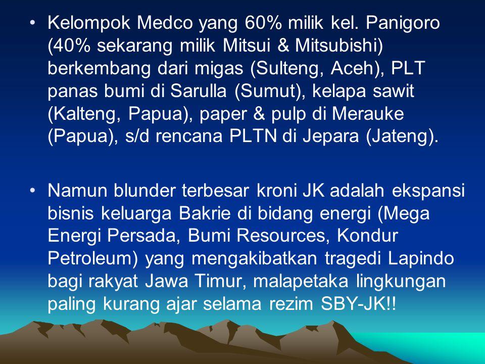 Kelompok Medco yang 60% milik kel