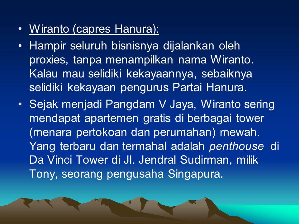 Wiranto (capres Hanura):