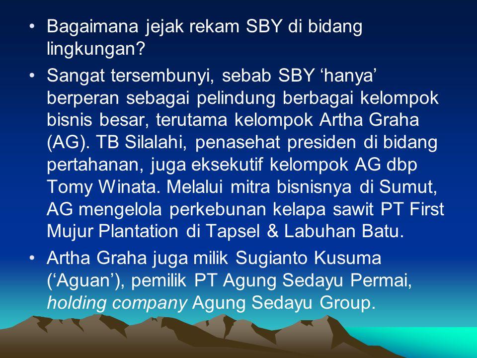 Bagaimana jejak rekam SBY di bidang lingkungan