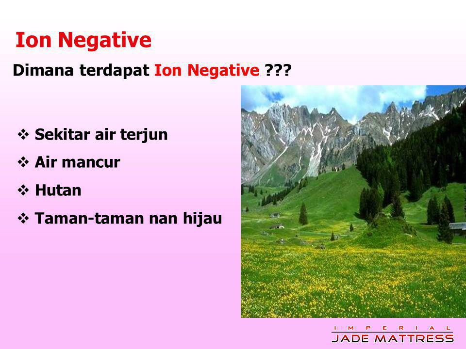 Ion Negative Dimana terdapat Ion Negative Sekitar air terjun