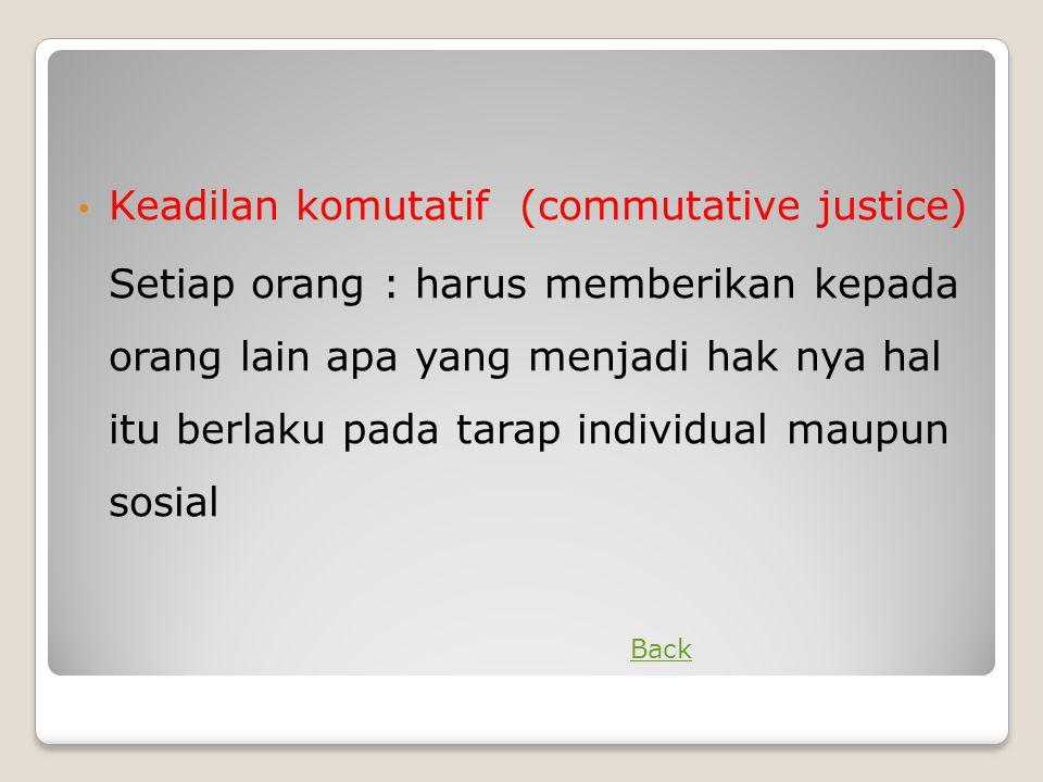 Keadilan komutatif (commutative justice)
