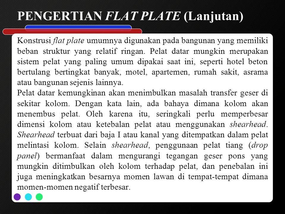 PENGERTIAN FLAT PLATE (Lanjutan)