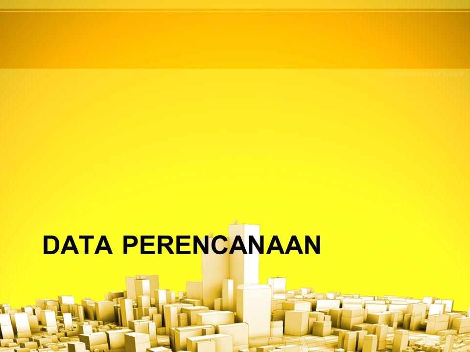 DATA PERENCANAAN
