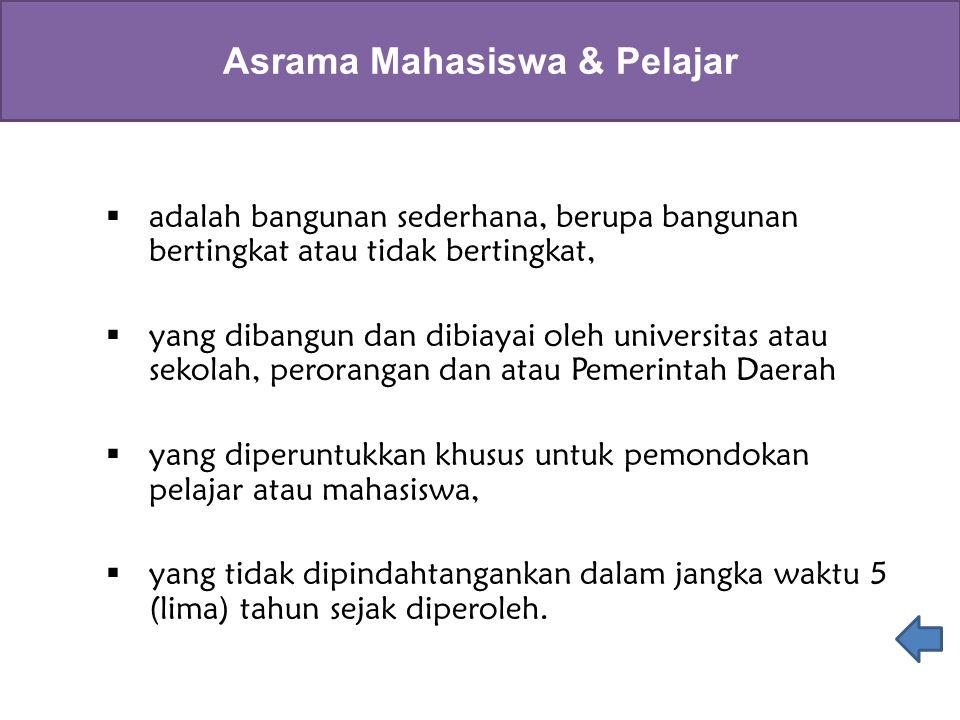 Asrama Mahasiswa & Pelajar