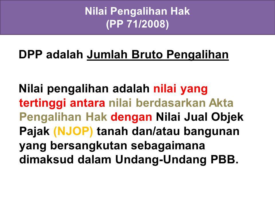Nilai Pengalihan Hak (PP 71/2008)