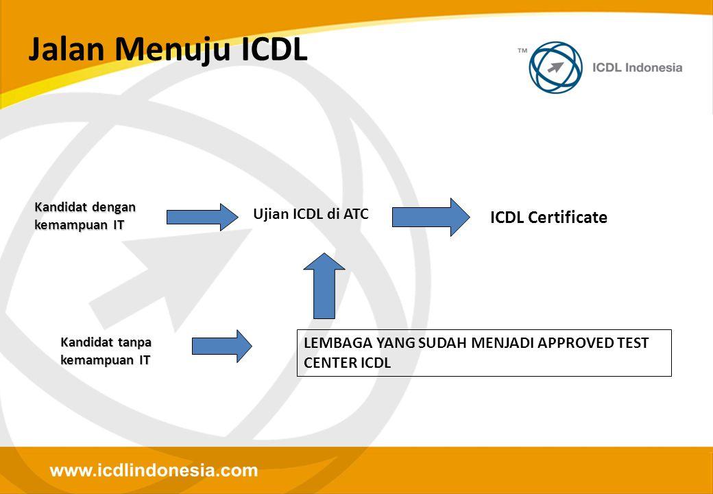 Jalan Menuju ICDL ICDL Certificate Ujian ICDL di ATC