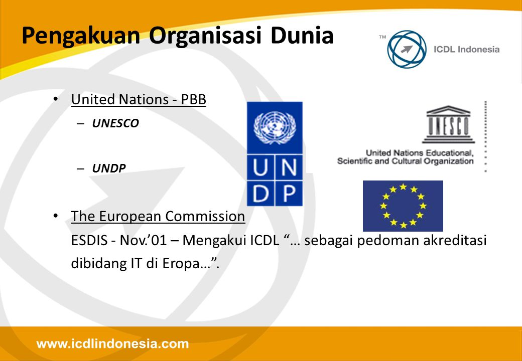 Pengakuan Organisasi Dunia