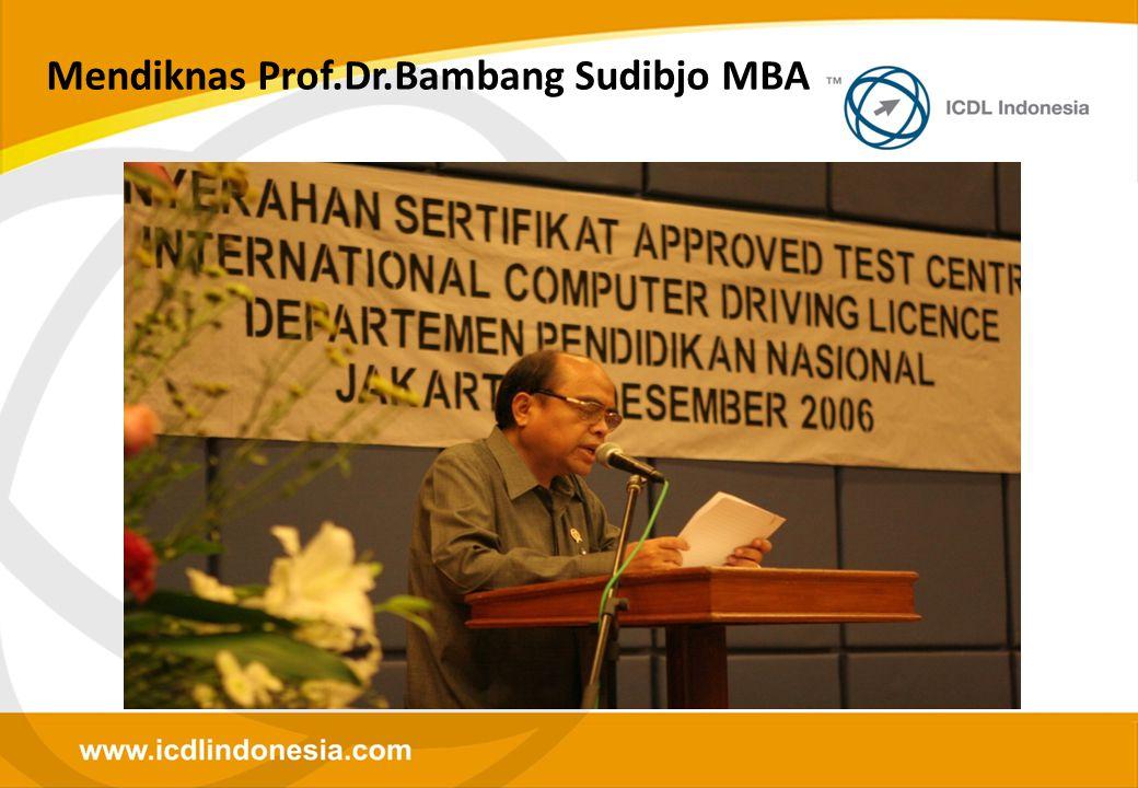 Mendiknas Prof.Dr.Bambang Sudibjo MBA